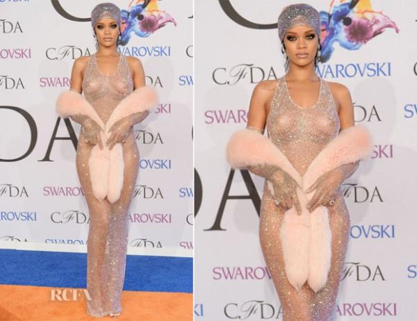 ริฮานน่า โชว์หวิวในงานCFDA Fashion Awards 2014