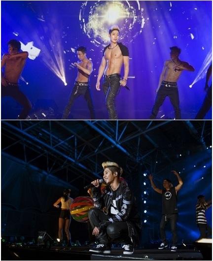 คิมฮยอนจุง โชว์กล้ามล่ำบึก ในคอนเสิร์ตไต้หวัน