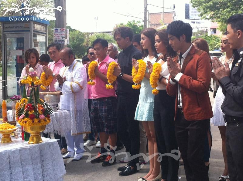 บวงสรวงละคร 'ดั่งไฟใต้น้ำ' ช่องไทยทีวี