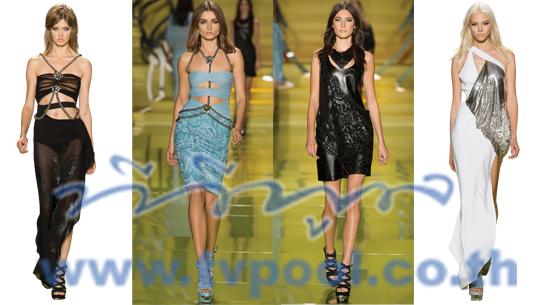 Rock Chick Vibe คอลเลคชั่น Spring/Summer 2014 ของ 'Versace'