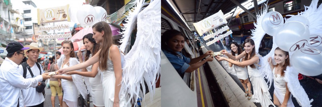 แก๊งค์นางฟ้าชุดขาวติดปีก บุกกรุงเทพฯแจกความ #ฟินเหมือนขึ้นสวรรค์!