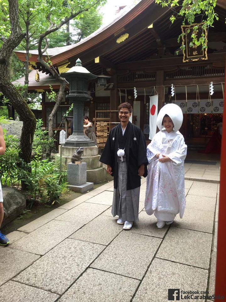 """""""เล็ก คาราบาว"""" ปลื้มใจ ลูกชายเข้าพิธีวิวาห์กับสาวญี่ปุ่น !!!!"""