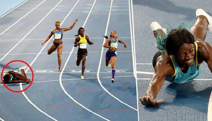 ท่าไม้ตาย! นักกีฬาวิ่งหญิงของบาฮามาส ใช้ท่าพุ่งตัวเข้าเส้นชัย เฉือนคู่ต่อสู้ จนต้องใช้ภาพตัดสิน