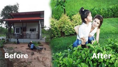 """เสร็จสมบรูณ์ บ้านไร่ปลายนา """"ปอ ทฤษฎี"""" """"ต้นแมลงปอ- ต้นแวนดา – ต้นมะลิ"""" เรียงรายสวยงามเขียวขจี"""