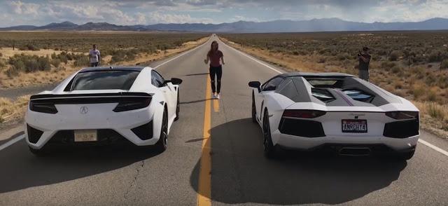 วัดกันซักตั้ง!!! แรง Acura NSX VS Lamborghini Aventador ใครเจ๋งกว่ากันไปดู(ชมคลิป)!!!!