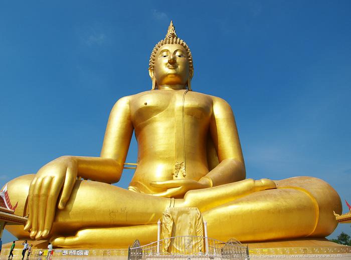 """""""หลวงพ่อใหญ่"""" วัดม่วง จ.อ่างทอง พระพุทธรูปองค์ใหญ่ที่สุดในโลก!!!"""