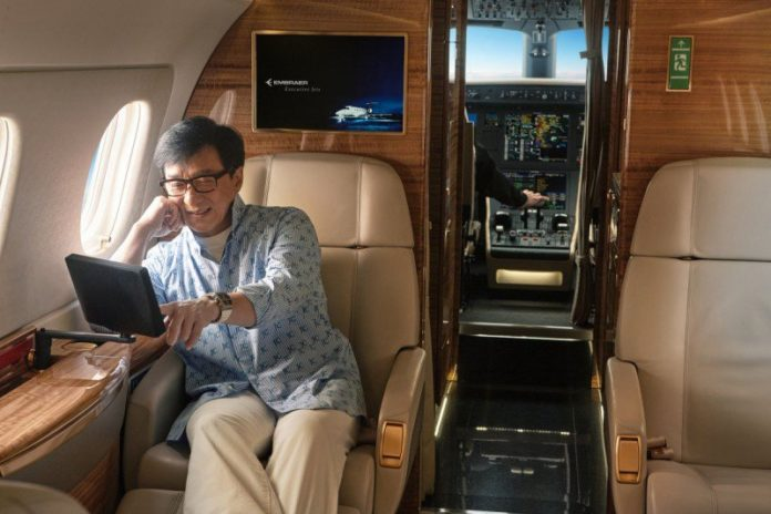 """เครื่องบินเจ็ตส่วนตัวสุดหรูลำใหม่!!! มูลค่า 700 ล้านบาท ของ """"เฉินหลง"""""""