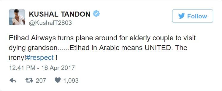 """เเห่ชื่นชม!!! """"กัปตันสายการบิน Etihad"""" เลี้ยวเครื่องกลับกะทันหัน เพื่อส่ง 2 ตา – ยาย ดูใจหลานที่กำลังจะสิ้นใจ!!!"""