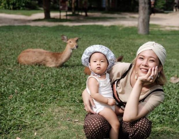 """ส่อง 8ภาพ  """"น้องเป่าเปา""""เที่ยวสวนสัตวืสุดน่ารัก"""