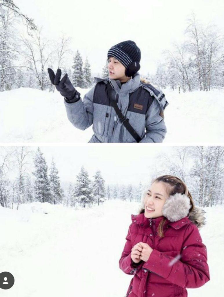 """แฟนคลับฟินเว้อร์ """"สรยุทธ์"""" จัดให้ """"น้องไบร์ท"""" ควง """"โต๋"""" สัมผัสอากาศหนาวฟินแลนด์ ไร้ภาพคู่"""