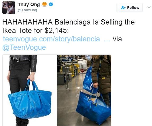 """เอาอีกแล้ว!!! """" Balenciaga """" คอลเล็กชั่นใหม่ คนแซว อย่างกะถุง  """" Ikea """""""