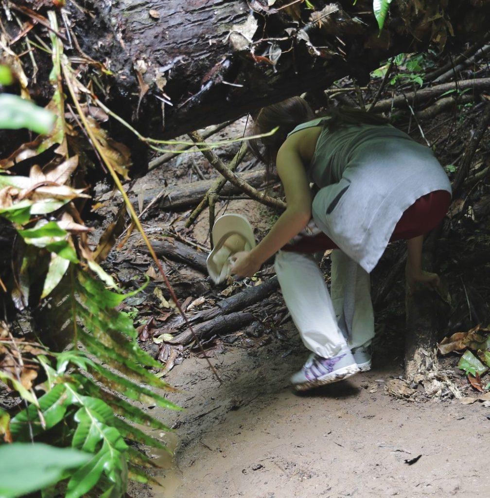 """ไดอารี่สั้นๆ """"หมาก ปริญ"""" บรรยายการเดินป่าครั้งแรกของ """"คิมเบอร์ลี่""""  #พญาชะนีมา"""