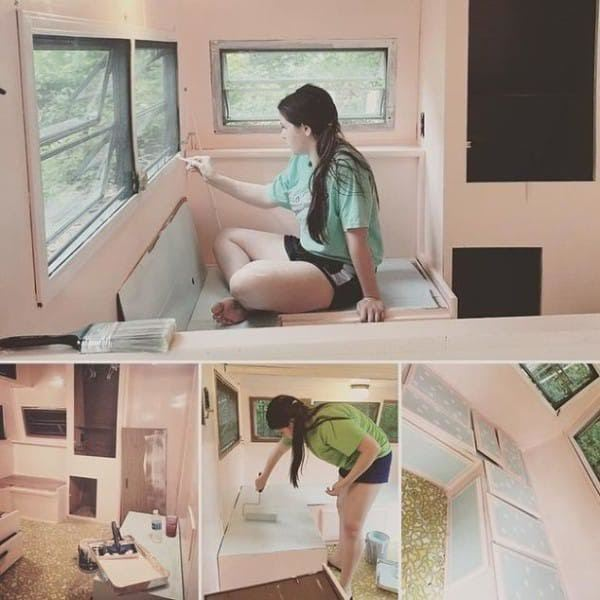 เด็กมันมีไฟ !! สาวน้อยวัย 14 เปลี่ยนรถบ้านคันเก่า ให้กลายเป็นห้องสุดเจ๋ง