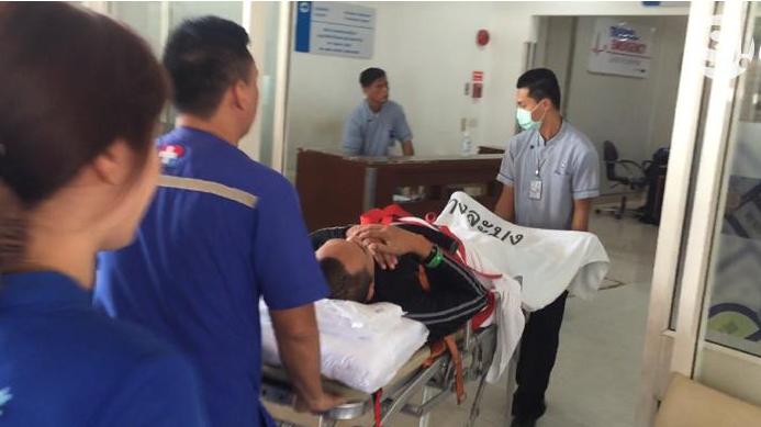 ส่งโรงบาลด่วน  เปิ้ล นาคร ประสบอุบัติเหตุกลางทะเล ระหว่างทดสอบสภาพอากาศ