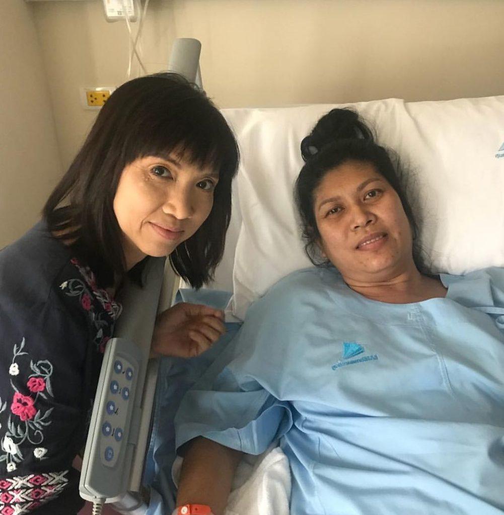 พี่ปู เข้ารับการผ่าตัด กำลังใจจากพี่-น้องดารา แน่นขอบเตียง