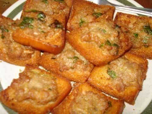 วิธีทำขนมปังหน้าหมู สูตรกรอบ อร่อยเหมือนร้านทำขาย