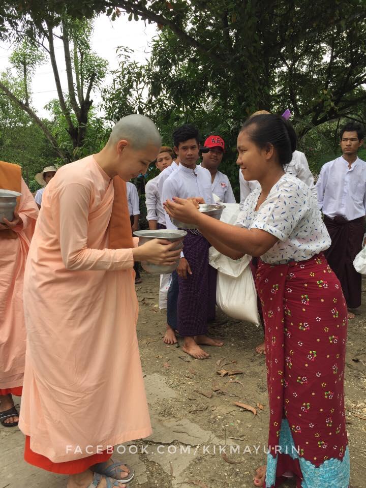 กิ๊ก มยุริญ ละทางโลก โกนหัวบวชชีแล้ว ปฏิบัติธรรมวัดในพม่านาน 7 เดือน