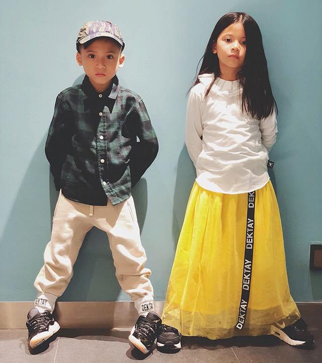 สวยหล่อ! บรู๊คลิน-บีน่า ลูกฝาแฝดของ เวย์-นานา กับสไตล์ที่เท่ไม่แพ้พ่อ!