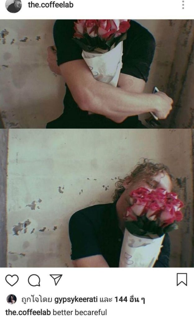 เปิดวาร์ป! หนุ่มฝรั่งปริศนา เจ้าของช่อดอกไม้ที่ส่งให้ ยิปซี คีรติ ทำฝ่ายหญิงยิ้มสดใส