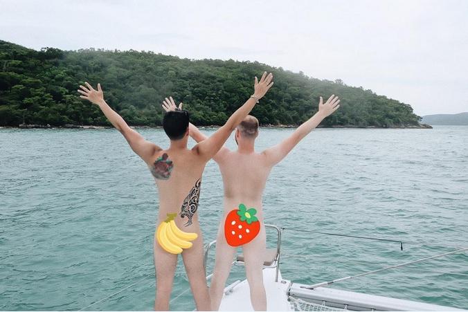 เขื่อน ภัทรดนัย ควงสามี ยืนแก้ผ้าบนเรือ แถมอวยพรวันเกิด!!