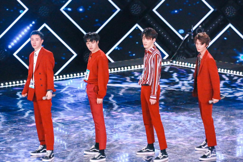 """4 หนุ่มวง """"Spotlight"""" ศิลปินเบอร์แรก ไอมี่จีน เข้าร่วมแข่งขันรายการชื่อดัง CHINA PRODUCE 101"""