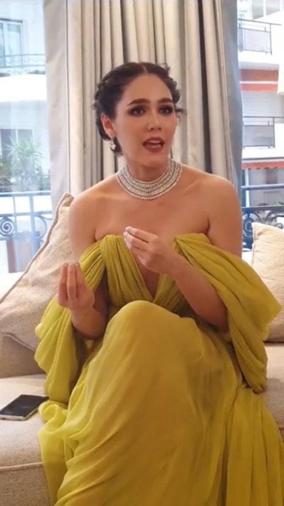 """ออกทีวีฝรั่งเศส ! """"ชมพู่ อารยา"""" สวยส่งท้ายปาร์ตี้ Chopard นักข่าวขอสัมภาษณ์ถึงที่พัก"""