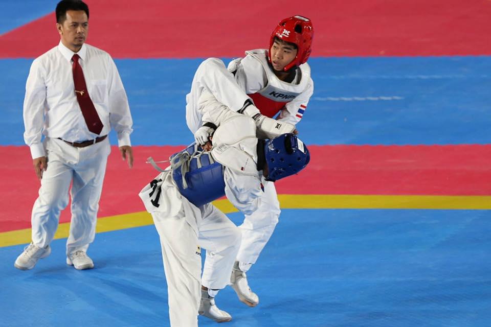 นักกีฬาเทควันโดชายไทย เตะเจ้าภาพล้มหัวทิ่ม หลังพยายามโกงหลายรอบ