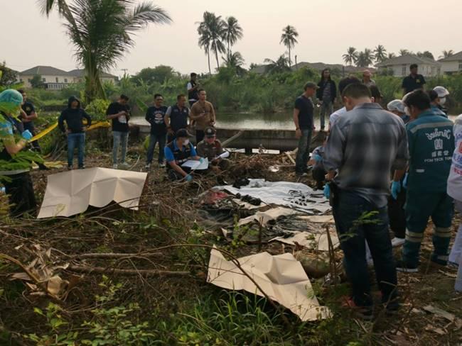 พบอีกศพ หลังบ้าน ไอซ์ หีบเหล็กใช้ดัมเบลล่ามโซ่ทิ้งถ่วงน้ำ