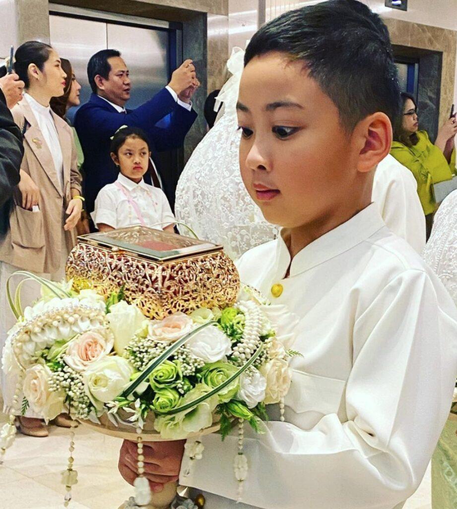 ตั๊ก บงกช ชื่นชมลูกชาย น้องข้าวหอม หลังถือพานแหวนหมั้นงานแต่ง ตูน-ก้อย